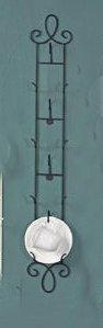 Tripar International Tea Cup Rack, Vertical Display Wall Teacup Rack, Black