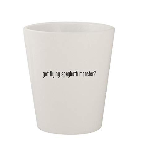 got flying spaghetti monster? - Ceramic White 1.5oz Shot Glass ()