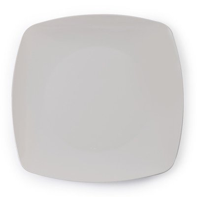 Fineline Settings 10-Piece Renaissance Bone Rounded Square China-Like Plate, 10-Inch
