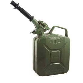 Wavian Jerry Can w/Spout & Spout Adapter, Green, 5 Liter/1.32 Gallon Capacity - 3016(3016)