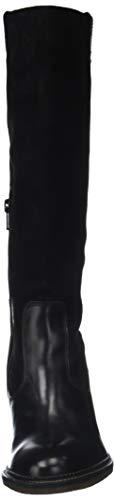 Femme Kickers Noir Bottes Hautes Pionlong noir 8 ttS6aq