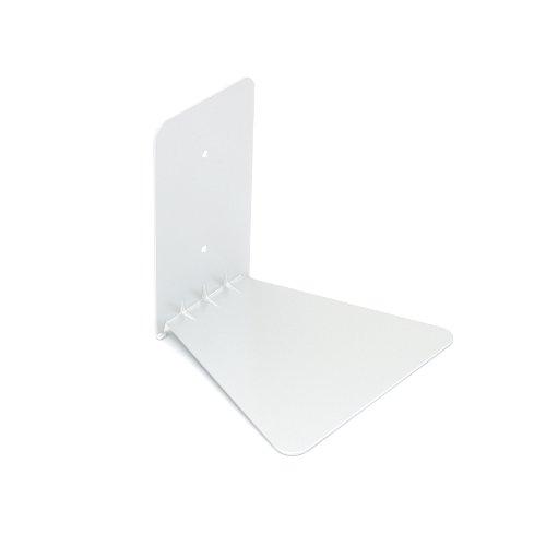 Umbra Conceal Floating Bookshelf, Small, White (Speaker Shelf)