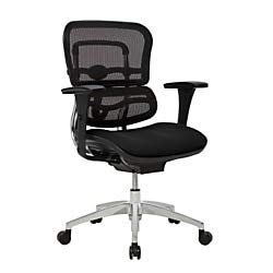 WorkPro 12000 Series Ergonomic Mid-Back Mesh/Fabric Chair, - 12000 Series