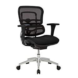 WorkPro 12000 Series Ergonomic Mid-Back Mesh/Fabric Chair, Black