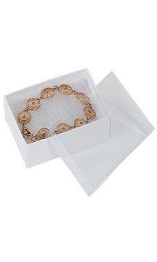 White Vu-Top Cotton-Filled Box (100/Case) - STOR-85501