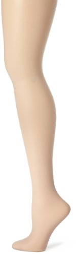 Sandal Toe Control Top Pantyhose - Hanes Silk Reflections Silky Sheer Control Top Sandal foot-Single Pair- Size C/D, Color: Clay Style# 717