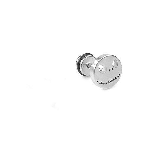 1 pcs Steel Skull Fake Ear Studs Plugs Cheater Piercing Tunnels Earrings (Color - -