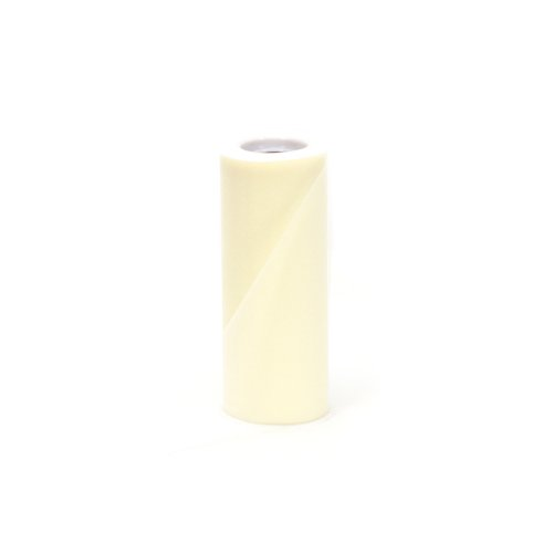 Offray Tulle Craft Ribbon, 6-Inch by 25-Yard Spool, Ivory