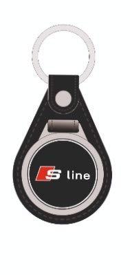 Llavero de Piel para Audi S-Line A3 A4 A5 A6 A7 A8: Amazon ...