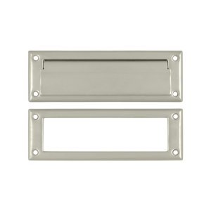 Deltana MS626U15 8 7/8-Inch Mail Slot with Solid Brass Interior - Deltana Brass Button