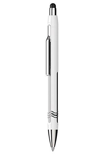 Schneider Slider Epsilon Touch Stylus/Ballpoint Pen, White/Gray Barrel, Blue (138701)
