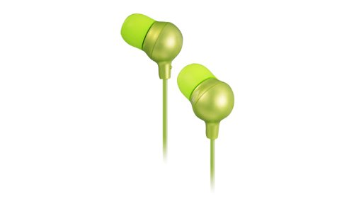 JVC HAFR36G Marshmallow Inner Ear Headphones with Microphone and Remote (Green) -