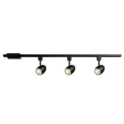 Hampton Bay Black Dimmable LED Track Kit
