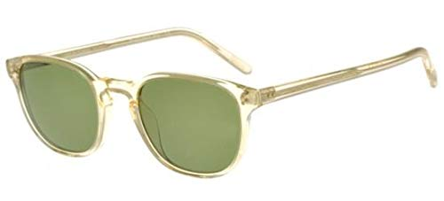Oliver Peoples Sunglasses Fairmont Sun 109452 Buff with Green ()