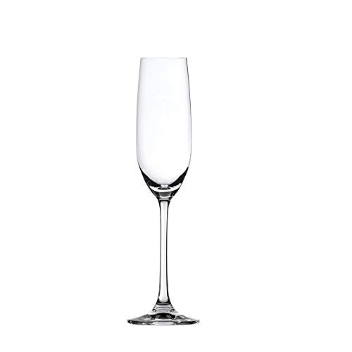 Spiegelau Salute Sparkling Wine Champagne Flute - (Clear Crystal, Set of 4) ()