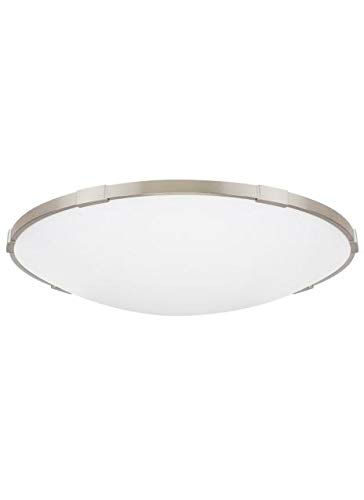 Commercial Lance 24 Ceiling Flush & Semi-Flush Mount in Satin Nickel with Frosted Glass Diffuser