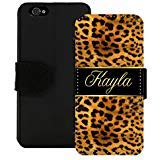 - Personalized Wallet Case for iPhone X 8 7 6 5 SE 5C Plus Leopard Gold by Sherrys Stock TM (iPhone 6 6s)