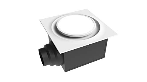 W ABF110L6 Ceiling Mount 110 CFM w/LED Light/Nightlight, Energy Star Certified, White Quiet Bathroom Ventilation Fan ()