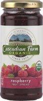 Cascadian Farm, Raspberry Spread, 10oz Glass Jar (Pack of 2)