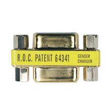 Tripp Lite Compact Gold Gender Changer - Serial gender changer - DB-9 (F) - DB-9 (F)
