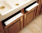 Plastic Sink Tip-Out Trays, 11''L x 2-1/8''D x 3-13/16''H, Almond, (2)Trays & (2) Pivot Pairs Hinges
