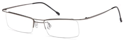 Unisex Semi-Rimless Glasses Frames Metallic Prescription Eyeglasses - Online Semi Eyeglasses Rimless