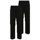 Boys Black Half Elastic School Trouser 2 Pack | School | George
