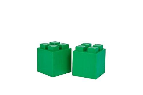 EverBlock Modular Building Blocks - Half Block Bulk Pack, 8 Blocks - Green