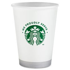 Starbucks SBK11032976 Hot Cold Cups, Compostable, We Proudly Serve PLA Lined, 12 oz pack of 1000 (20 packs of 50) by Starbucks