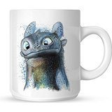 How to Train Your Dragon Toothless Art Mug White Mug 11oz