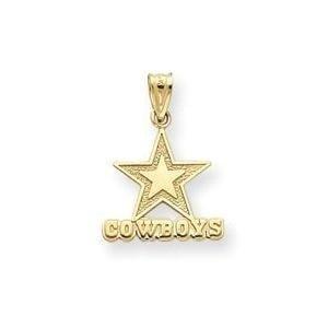 (14k Gold NFL Cowboys Charm (14K Yellow Gold))