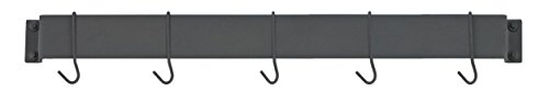 Cuisinart CRBW-33MBK Chef's Classic 33-Inch Bar-Style Wall-Mount Pot Rack, Matte Black by Cuisinart (Image #2)'