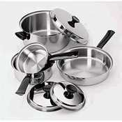 Regalware Food Service Lodging Tri-Ply 7-piece Stainless Steel Cookware Set by Regalware Food Service