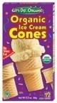 Let's Do Organics - Organic Ice Cream Cones, 12 x 1.2 OZ