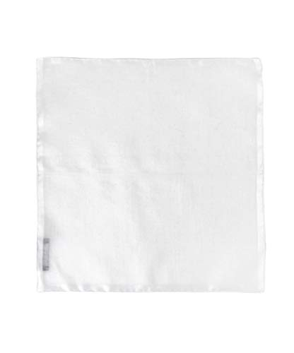 100% White Linen Handmade Pocket Square Handkerchief in Perfect Suit Size