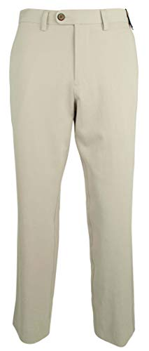 (Tommy Bahama Flat Front Silk Blend Pants (Color Abbey Stone, Size 34X34))