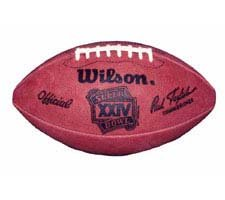 Super Bowl XXIV Official Game Football by Wilson - San Francisco 49ers vs. Denver Broncos by Wilson
