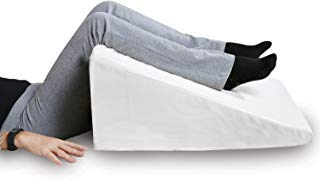 (SUPPORT PLUS Bed Wedge Pillow - Premium Hybrid Memory Foam Triangle Cushion to Elevate Upper Body - Recommended for Acid Reflux, Snoring and GERD - Washable, Removable Cover 12.5