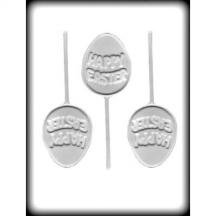 8H-2246 Happy Easter Sucker Hard Candy Mold Package of 3