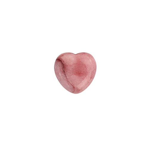 Rose Agate Carved Heart Rock -