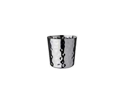 Barprofessional CUP0909 Appetizer Cup Stainless Hammered, Multicolor