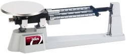 OHAUS 760-00 Triple Beam Mechanical Balance with Stainless Steel Plate and 225-g Tare