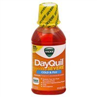 Vicks Dayquil Severe Cold & Flu Relief Liquid, 12 oz (Pack of 9)