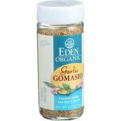 Eden Foods - Gomasio Garlic Sesame Salt (3-3.5 OZ) - Enjoy Abundant Flavor and Nutrients of Gomasio Sesame Salt