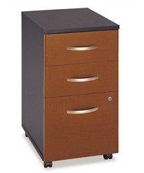 Bush Business Furniture Black & Maple 3-Drawer File Cabinet - Series C