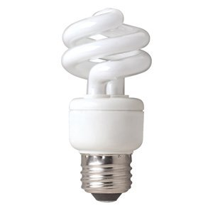 9w Springlamp - TCP 07900 - 80100941 9W 41K 10M SPRINGLAMP Twist Medium Screw Base Compact Fluorescent Light Bulb