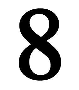 NUM-8-M Number 8 Medium 12 Inch High