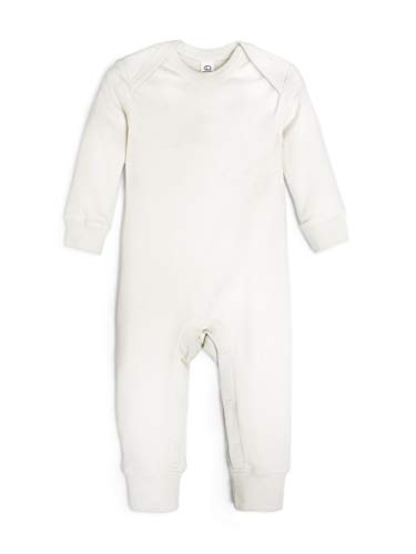 Colored Organics Unisex Baby Organic Cotton Aspen Romper - Long Sleeve Infant Coverall - Natural - 12-18M