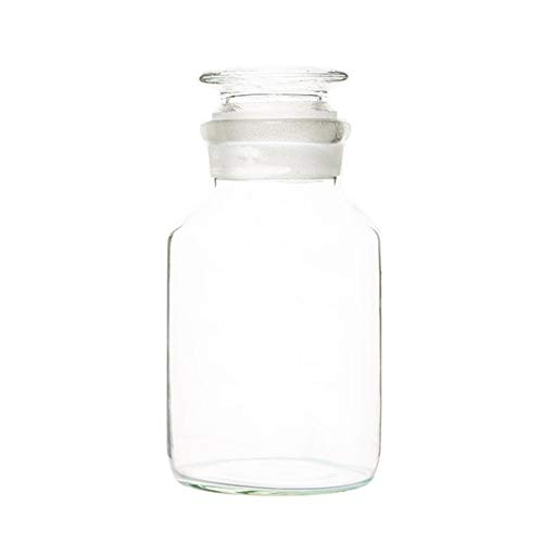 (Deschem 1000ml Lab Glass Reagent Bottle,1L Wide Mouth,with Ground Stopper)