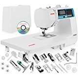 Janome 4120QDC Computerized Sewing Machine w/ Hard Case + Extension Table + Instructional DVD + 1/4